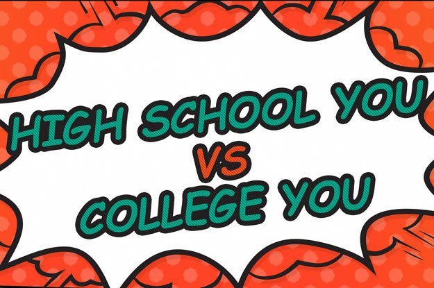High School You vs College You Infographic