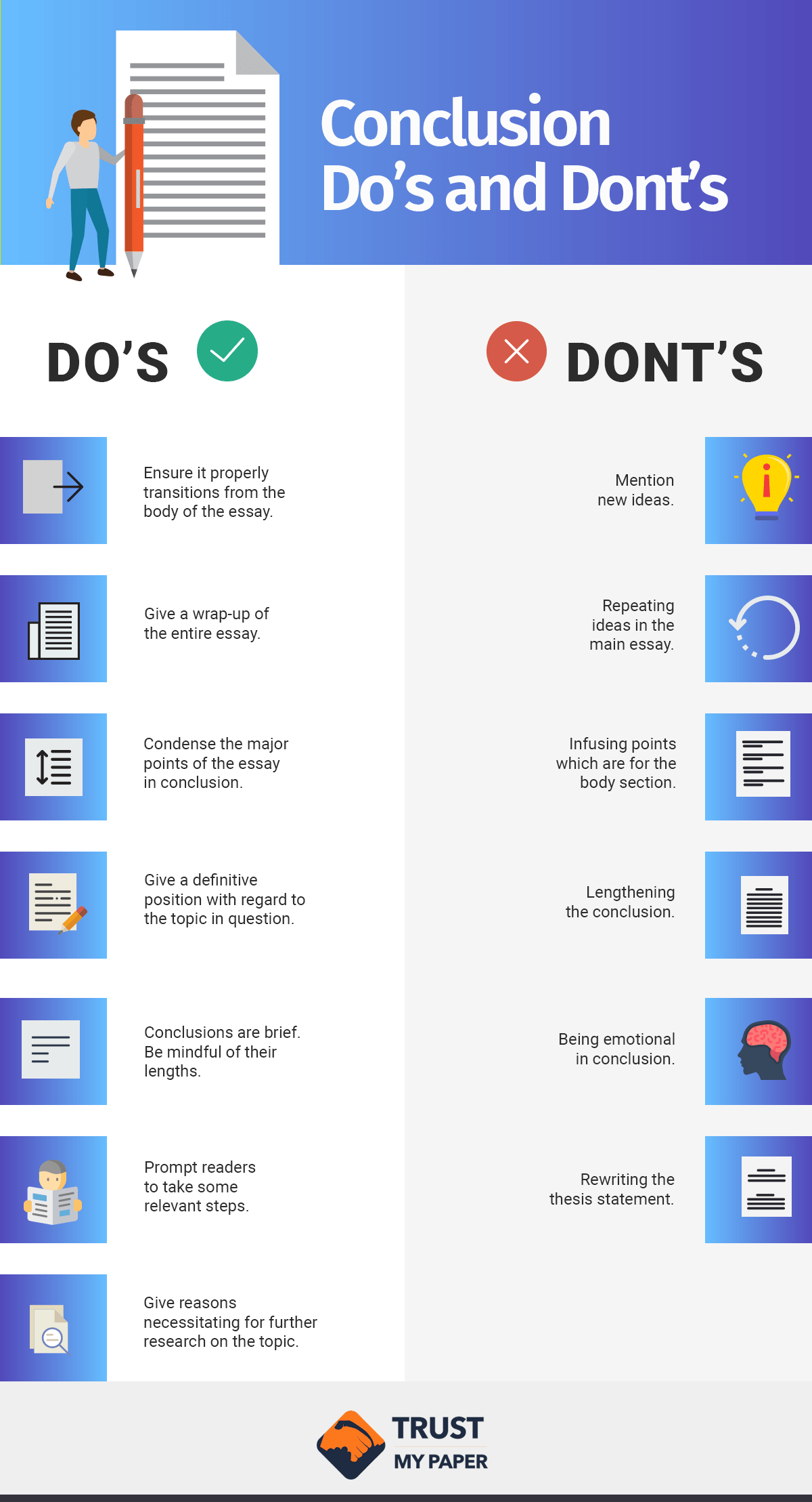 Conclusion Dos and Donts infographic